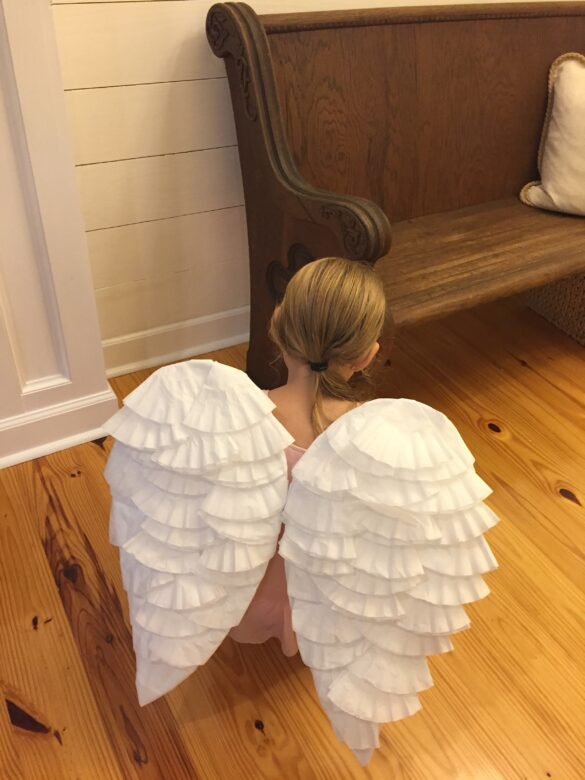 DIY angel wings
