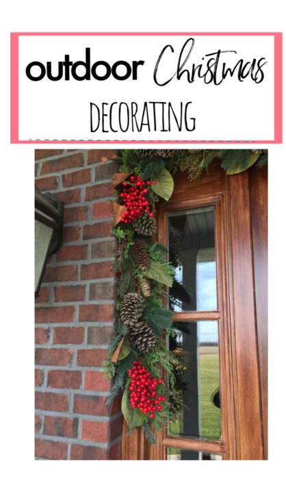 outdoor Christmas decorating