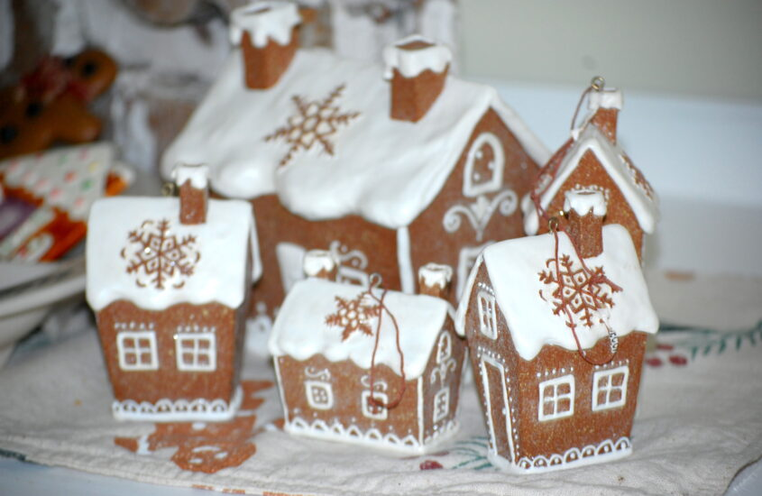 Vintage gingerbread christmas